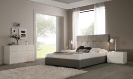 Кровать DUPEN 650 VERONICA LIGHT GREY-YELLOW